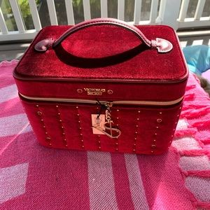 Victoria's Secret Red velvet train case